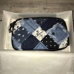 NWT Coach Denim Skull Print Crossbody